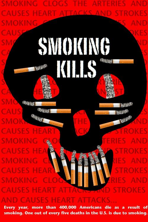smoking illustration by Franke James