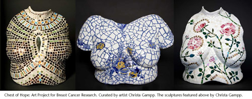 Chest of Hope, 3 sculptures by Christa Gampp